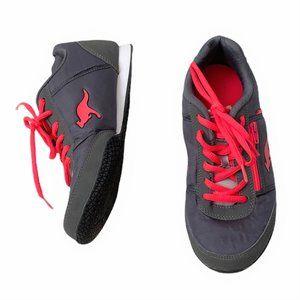 Women's KangaRoos Shoes Gray Pink Zipper Pocket